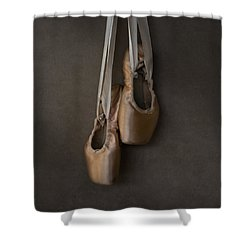 Shower Curtain featuring the photograph Sacred Pointe Shoes by Laura Fasulo