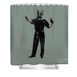 Police Dog Shower Curtain by Pixel  Chimp