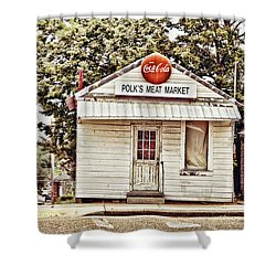 Polk's Meat Market Shower Curtain by Scott Pellegrin