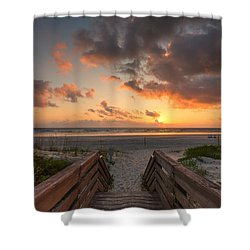 Ponce De Leon Inlet Beach Path Shower Curtain