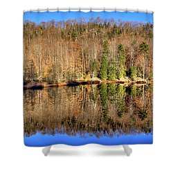 Shower Curtain featuring the photograph Pond Reflections by David Patterson