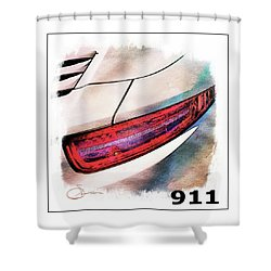 Porsche 911 Shower Curtain
