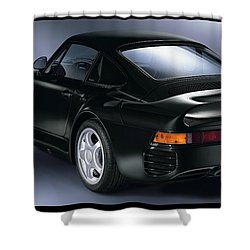 The Porsche 959 Shower Curtain