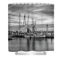 Port Royal Shrimp Boats Shower Curtain