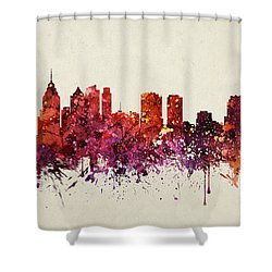 Philadelphia Cityscape 09 Shower Curtain by Aged Pixel