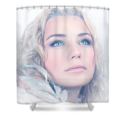 Portrait Of Gorgeous Female Shower Curtain