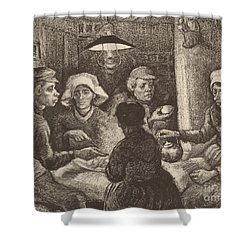Potato Eaters, 1885 Shower Curtain
