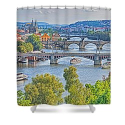 Prague Bridges Shower Curtain