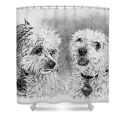 Precious Ones  Shower Curtain