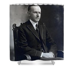 President Calvin Coolidge Shower Curtain by International  Images
