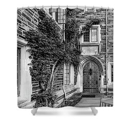 Shower Curtain featuring the photograph Princeton University Foulke Hall II by Susan Candelario