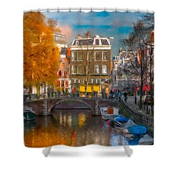 Prinsengracht 807. Amsterdam Shower Curtain
