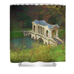 Shower Curtain featuring the photograph Prior Park, Bath by Ron Harpham