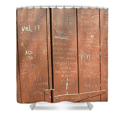 Prison Graffiti Shower Curtain