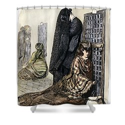 Prison: The Tombs, 1870 Shower Curtain by Granger