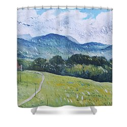Progens Switzerland 2016 Shower Curtain by Enver Larney