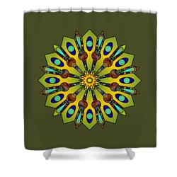 Psychedelic Mandala 004 A Shower Curtain by Larry Capra