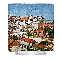 Puerto Vallarta Shower Curtain by Elena Elisseeva