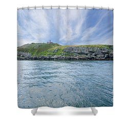 Puffin Island Shower Curtain by Steev Stamford