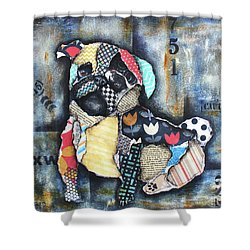 Pug Shower Curtain by Patricia Lintner