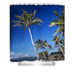 Puka Beach In Tropical Paradise Boracay Philippines Shower Curtain