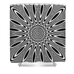 Pulsar Shower Curtain by Michal Boubin