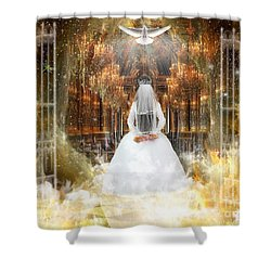 Pure Bride Shower Curtain by Dolores Develde