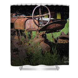 Put Out To Pasture Shower Curtain