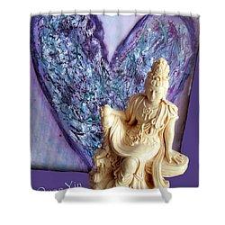 Quan Yin Heart Shower Curtain