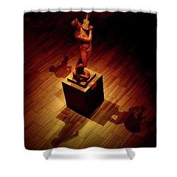 Quartet Shower Curtain by David Gilbert
