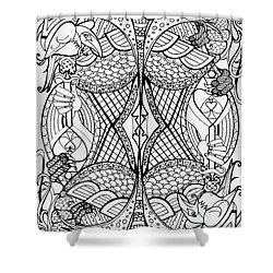 Queen Of Spades 2 Shower Curtain by Jani Freimann