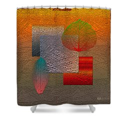 Quiet Sunset At The End Of Northern Summer  Shower Curtain