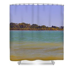 Shower Curtain featuring the photograph Racine Lakefront by Ricky L Jones