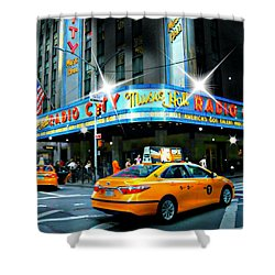 Radio City Shower Curtain by Diana Angstadt
