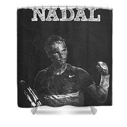 Rafael Nadal Shower Curtain by Semih Yurdabak