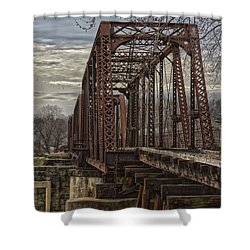 Rail Bridge Shower Curtain