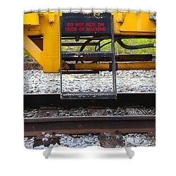Railroad Equipment Shower Curtain