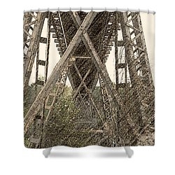 Railroad Tressel Shower Curtain