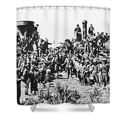 Railroading Shower Curtain by Granger
