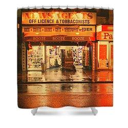 Rain Town Shower Curtain