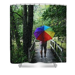 Rainy Day Shower Curtain by Judy  Johnson