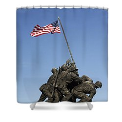 Raising The Flag On Iwo - 799 Shower Curtain