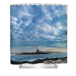 Ram Island Light Shower Curtain by Alana Ranney