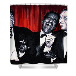 Rat Pack Shower Curtain
