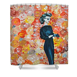 Shower Curtain featuring the painting Ready To Love by Maria Langgle