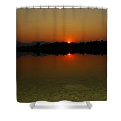Red Dawn Shower Curtain by Eric Dee