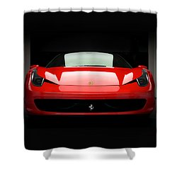 Red Ferrari 458 Shower Curtain