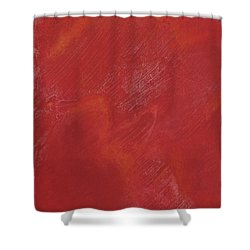 Red Field Shower Curtain