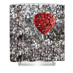 Shower Curtain featuring the photograph Red Heart by Ulrich Schade