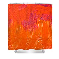 Red Paint Shower Curtain